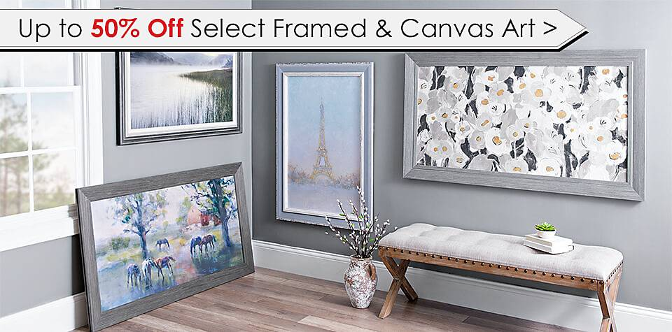 Up to 50% Off Select Framed & Canvas Art - Shop Now