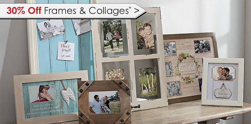 30% Off Frames & Collages - Some online exclusions apply