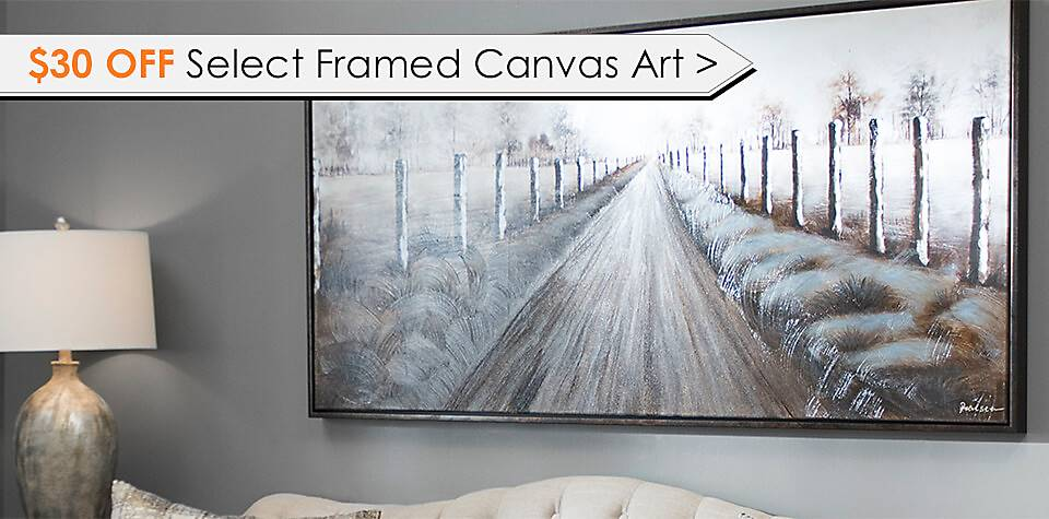 $30 Off Select Framed Canvas Art