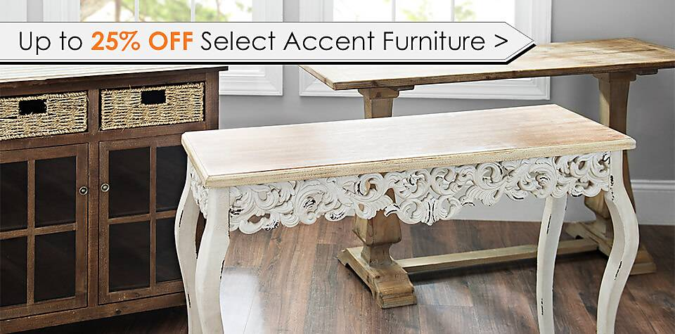 Up to 25% Off Select Accent Furniture