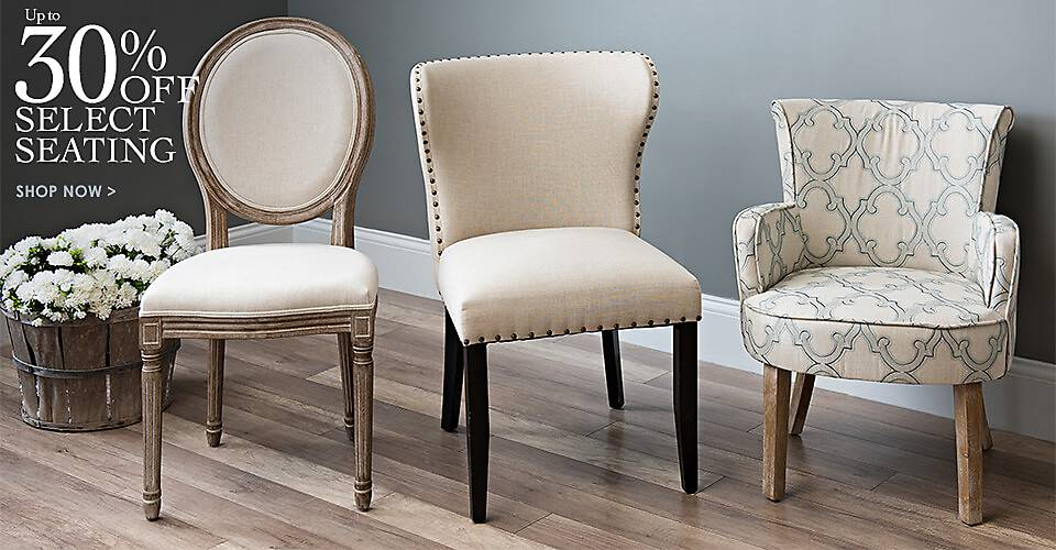 Up to 30% Off Select Seating - Shop Now