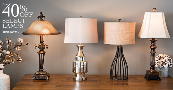 Up to 40% Off Select Lamps - Shop Now