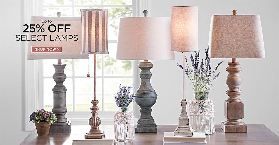 Up to 25% Off Select Lamps - Shop Now