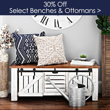 Select Benches and Ottomans 30% off