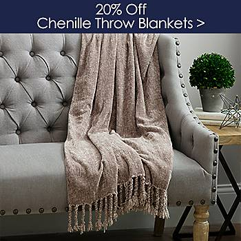 20% off Chenile Throws