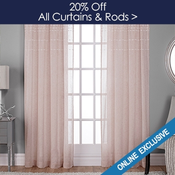 20% off All Curtains and Rods - Online Only