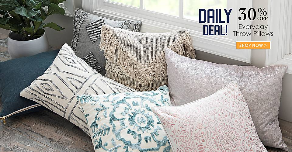 Daily Deal - 30% off Everyday Throw Pillows - Shop Now