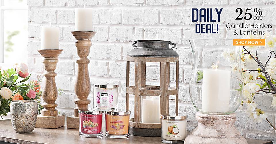 Daily Deal - 25% off Candle Holders and Lanterns - Shop Now