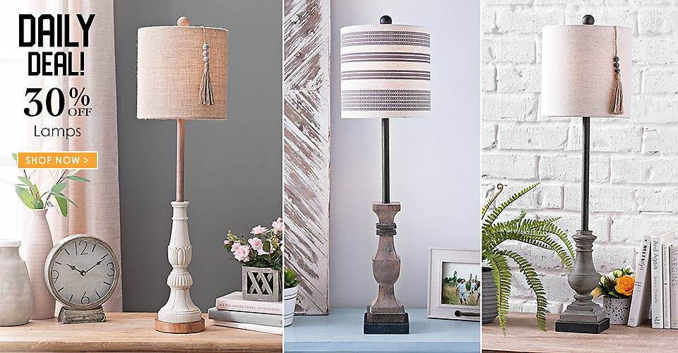 Daily Deal - 25% off All Lamps - Shop Now