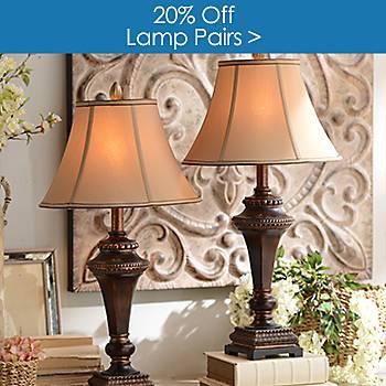 $20 off Lamp Pairs
