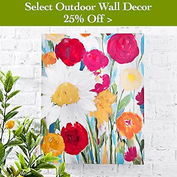 25% off Select Outdoor Wall Decor