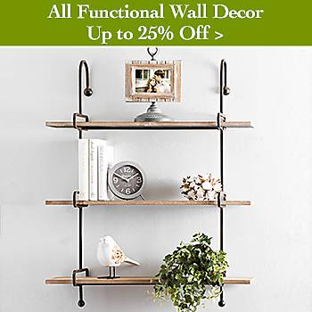 Up To 25% off Functional Wall Decor