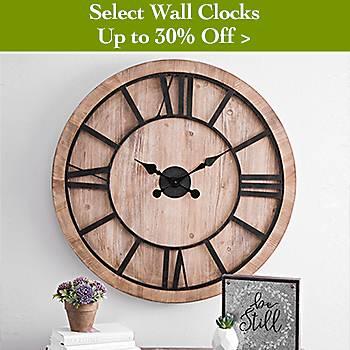 30% off wall clocks