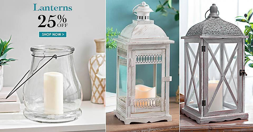 25% off Lanterns - Shop Now