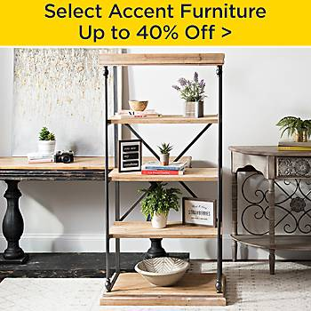 up to 40% off Accent Furniture