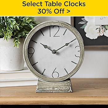 30% off Select Table Clocks