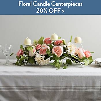 20% off Floral Candle Centerpieces