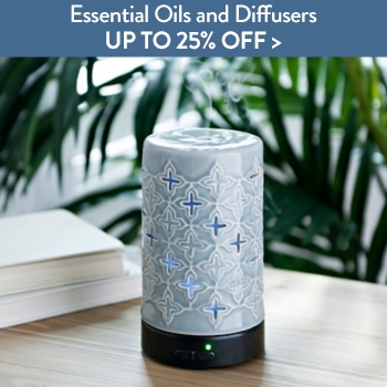 Up to 25% off Essential Oils and Diffusers