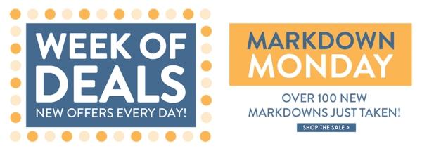Markdown Monday - Shop Now