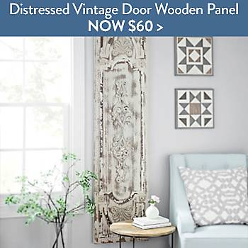 Distressed Vintage Door Wooden Panel - Now $60