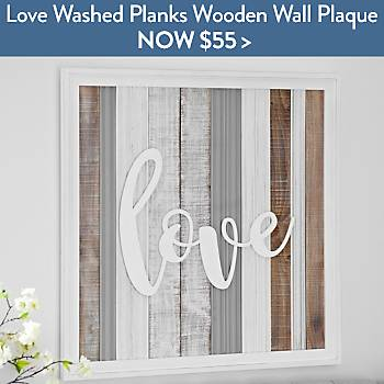 Love Washed Planks Wooden Wall Plaque - Now $55