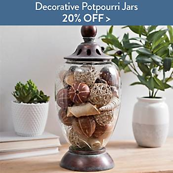 20% off decorative potpourri Jars