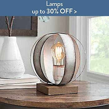 Lamps up to 30% off