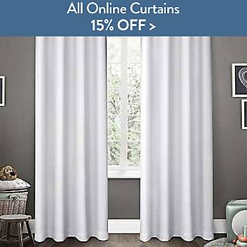 All online curtains 15% off