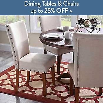 Dining tables and chairs up to 25% off