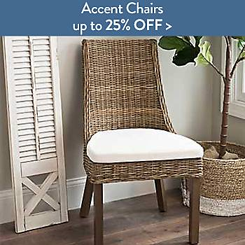 Accent chairs up to 25% off