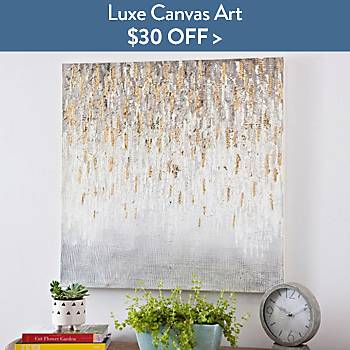 $30 off Luxe Canvas Art