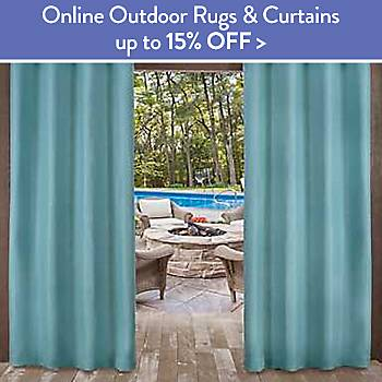 Up To 15% off Outdoor Rugs and Curtains - online only