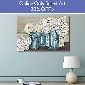 20% off Online Only Select Art