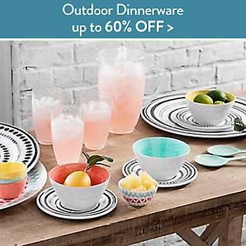 Up to 60% off outdoor dinnerware