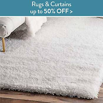 Up to 50% off Rugs and Curtains