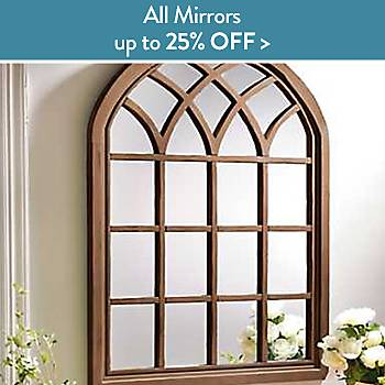 up to 25% off classic framed mirrors