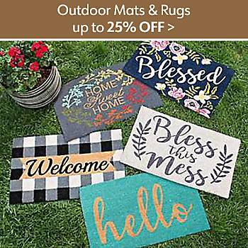 Up to 25% off Outdoor Mats and Rugs