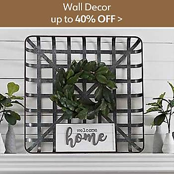 Up to 40% off Wall Decor