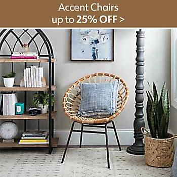 Up to 25% off Accent Chairs
