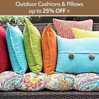 Outdoor Cushions and Pillows - Up to 25% off