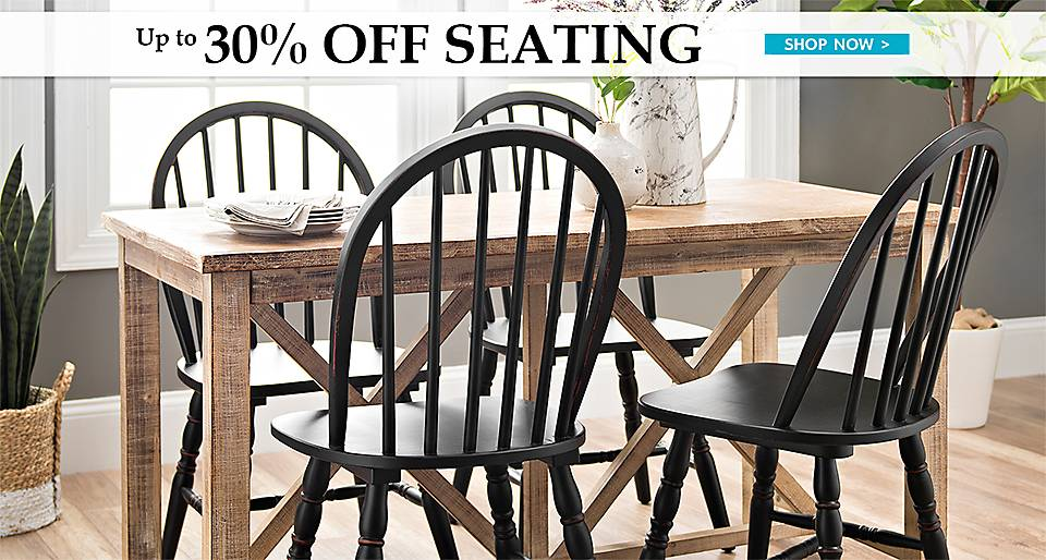 Up to 30% off Seating   - Shop Now