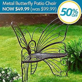 50% Off Butterfly Patio Chair - Seen on HGTV'd Backyard Hangout Finds - Now $49.99 (was $99.99)