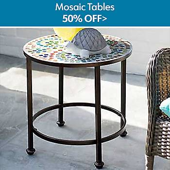 $50% Off Mosaic Tables