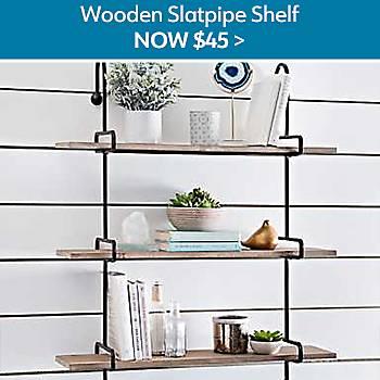 $45 Wooden Slatpipe Shelf