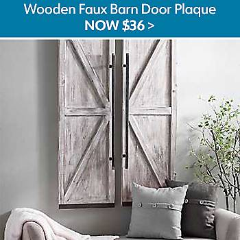 $36 Wooden Faux Barn Door Plaque