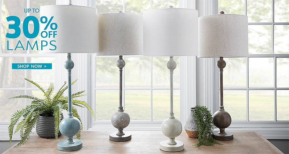 Up to 30% Off Lamps - Shop Now