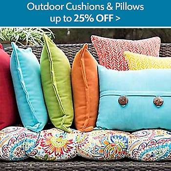 Up to 25% off Outdoor Cusions and Pillows
