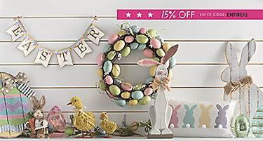 Hop in for Easter - 15% off - enter code ENTIRE15