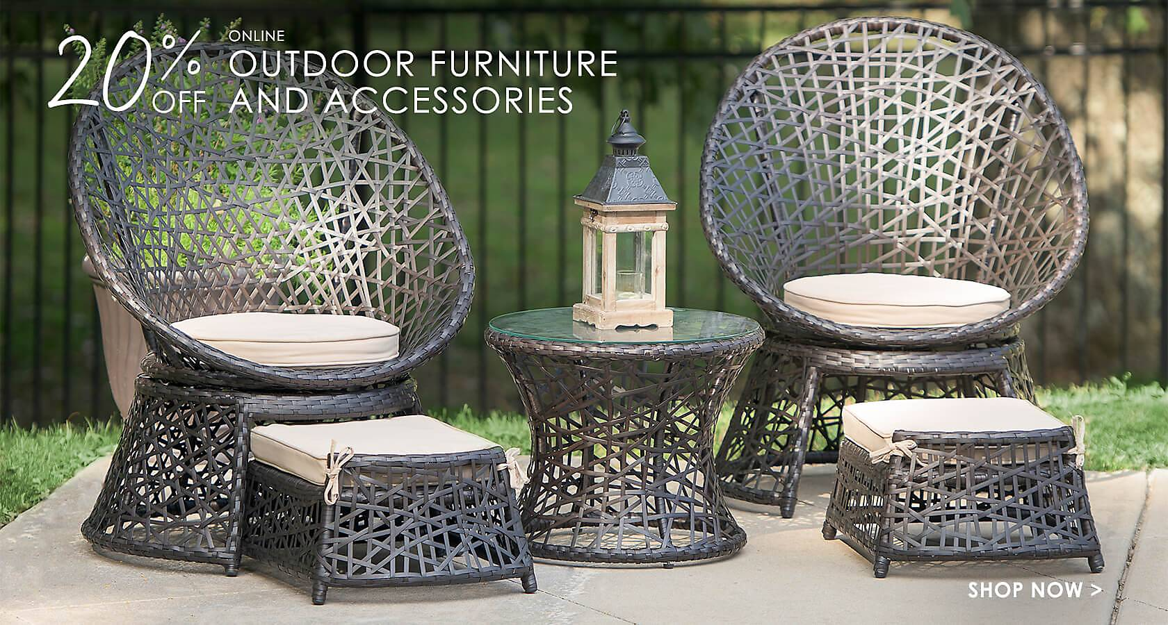 20% Off Online Outdoor Furniture and Accessories - Shop Now