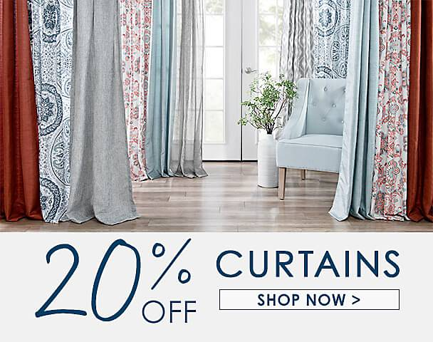 20% Off Curtains - Shop Now